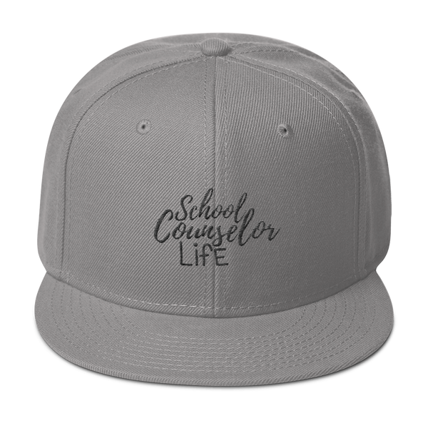 School Counselor Life - Wool Blend Snapback - The School Counselor Shop  Great gifts and items for school and guidance counselors. School Counseling, Counseling, School Shirts, Counseling Apparel