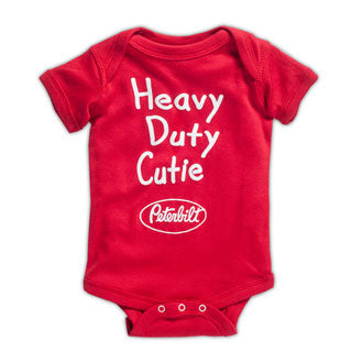 Heavy Duty Cutie Peterbilt Onesie