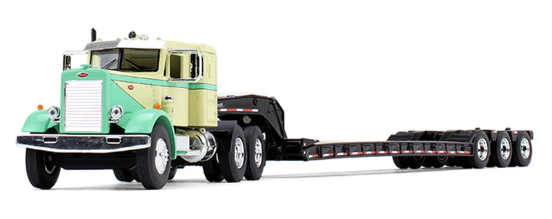 Peterbilt 351 with Tri-Axle Lowboy Trailer