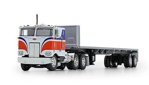 Peterbilt 352 Cabover with Flatbed Trailer