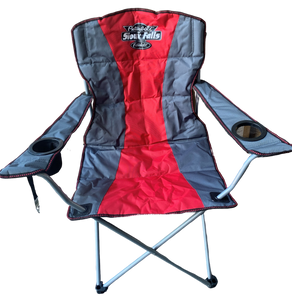 Red, Gray, and Black Chair