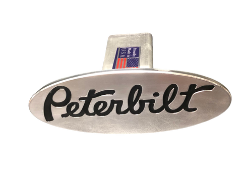Black Peterbilt Hitch Cover