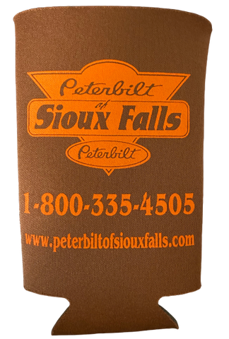 Brown and Orange Tall Boy Koozie