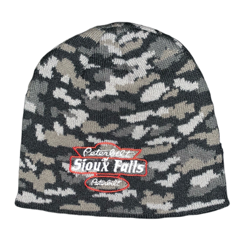 Black Camo Stocking Hat