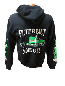 Youth Green and Black Hoodie