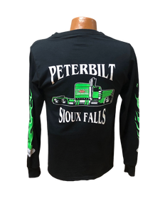 Green and Black Long Sleeve T-Shirt