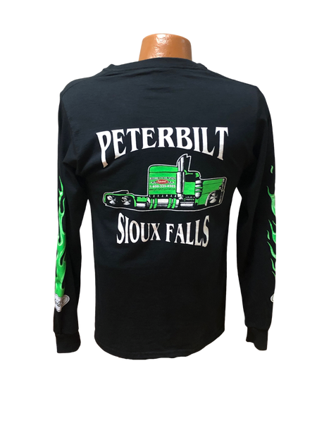 Youth Green and Black Long Sleeve T-Shirt