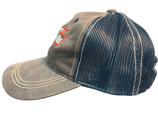 Charcoal Gray and Navy Hat