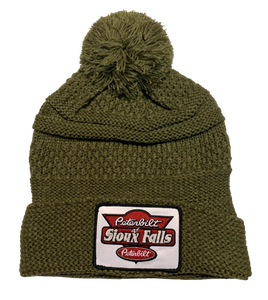 Olive Knit Stocking Hat