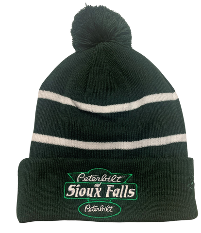 Dark Green and White Stocking Hat