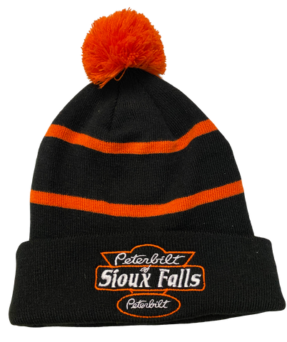Black and Orange Stocking Hat