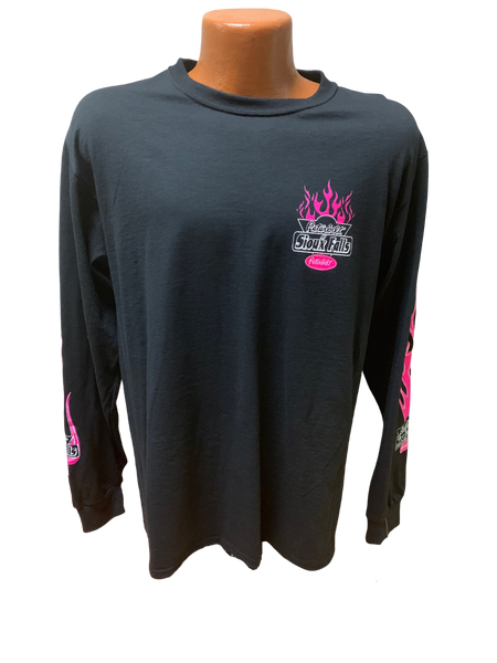 Youth Pink and Black Long Sleeve T-Shirt