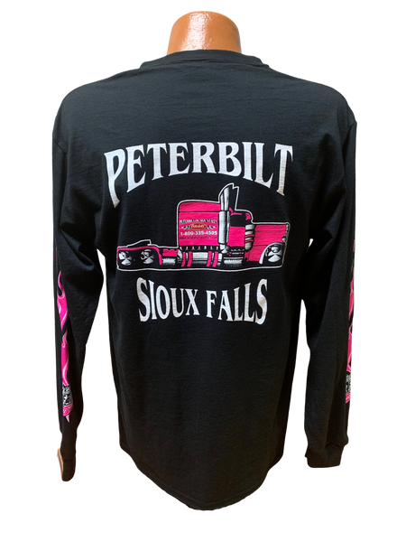 Pink and Black Long Sleeve T-Shirt