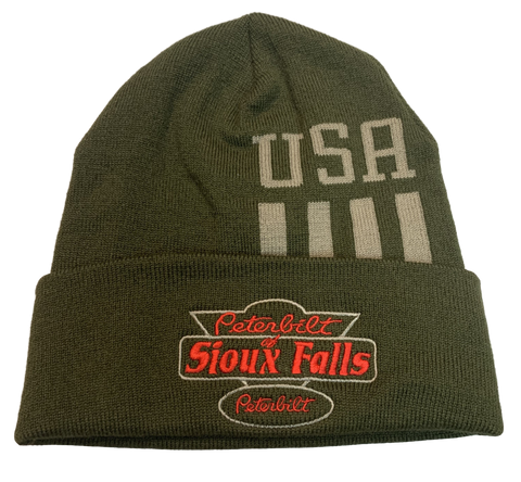 Olive and Khaki USA Stocking Hat