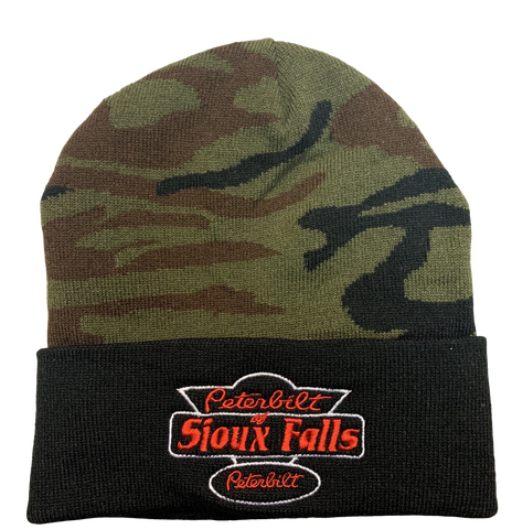 Camo and Black Stocking Hat