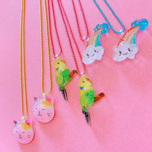 Load image into Gallery viewer, Ltd. Pop Cutie Glitter Kitty Necklaces - 6 pcs. Wholesale