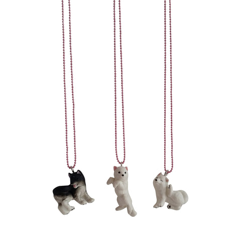 Ltd. Pop Cutie Japanese Dog Necklaces - 6 pcs. Wholesale