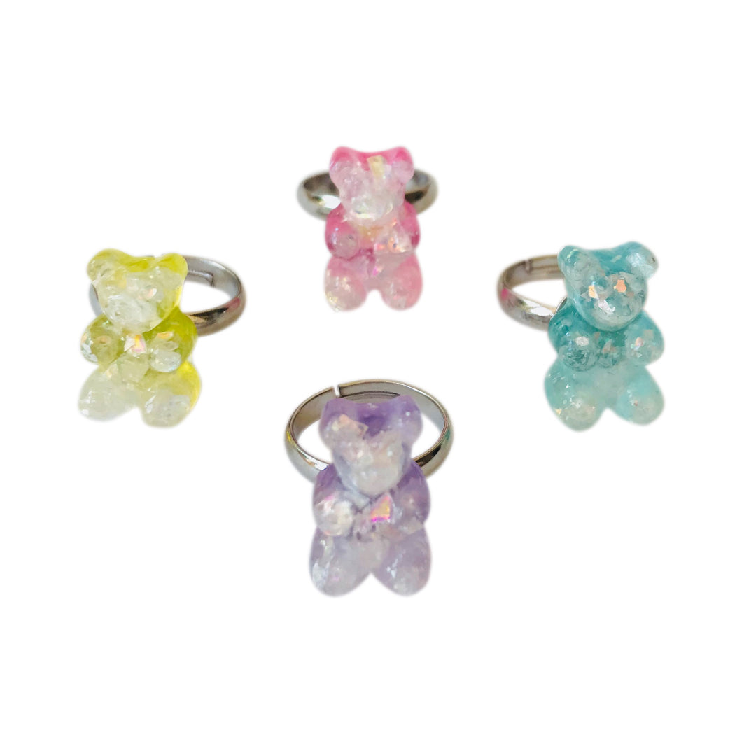Pop Cutie Gummy Bear Ring (12 pcs) Wholesale