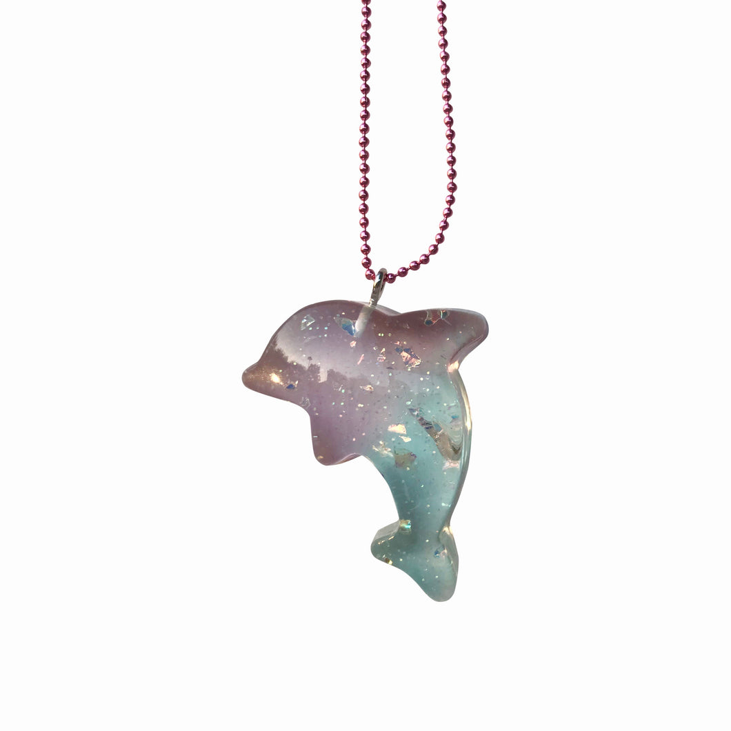 Ltd. Pop Cutie Pastel Dolphin Necklaces -6 pcs. Wholesale