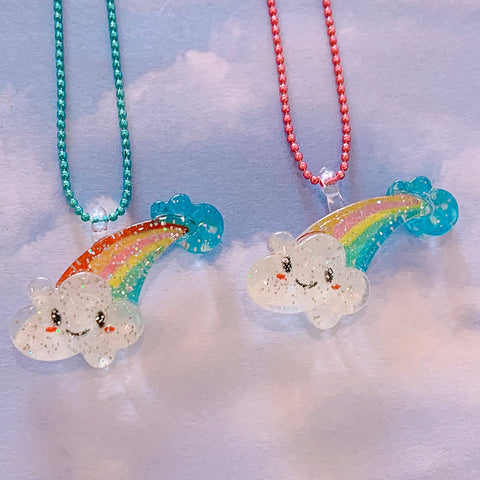 Ltd. Pop Cutie Glitter Cloud Necklaces - 6 pcs. Wholesale