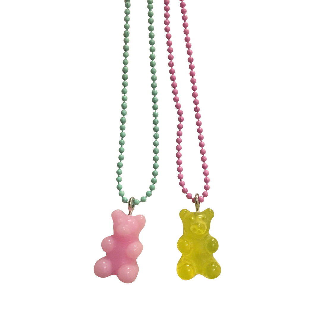 Pop Cutie Gacha Gummy Bear Necklaces  - 6 pcs Wholesale