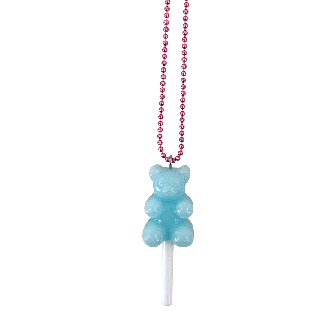 Ltd. Pop Cutie Gummy Bear Lollipop Necklaces - 6 pcs. Wholesale