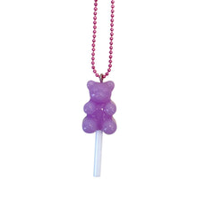 Load image into Gallery viewer, Ltd. Pop Cutie Gummy Bear Lollipop Necklaces - 6 pcs. Wholesale