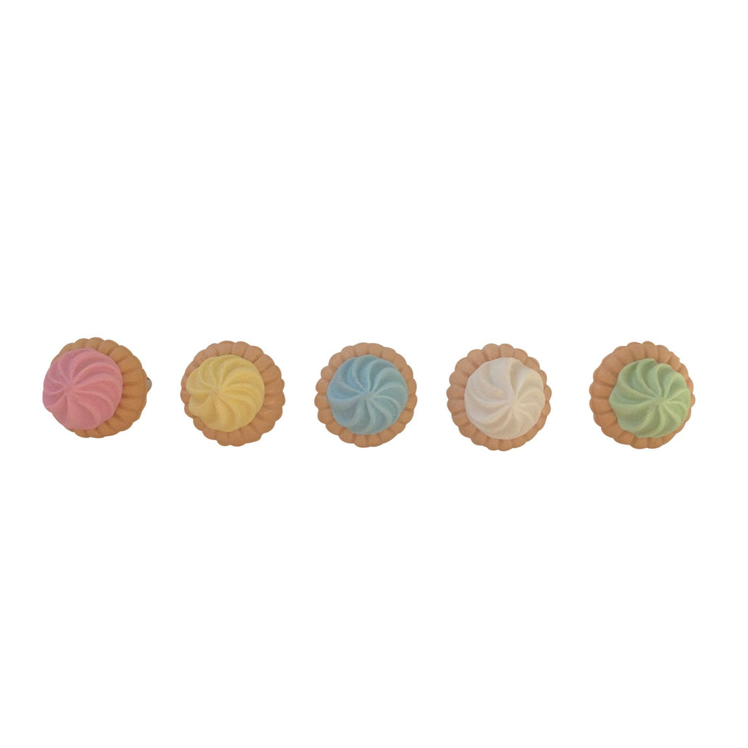 Pop Cutie Jewel Biscuit Rings (12 pcs) Wholesale
