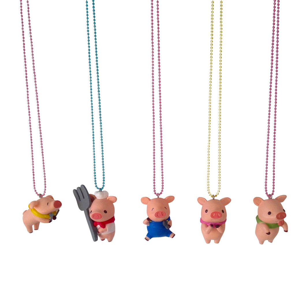 Ltd. Pop Cutie Piggies Necklaces - 6 pcs. Wholesale