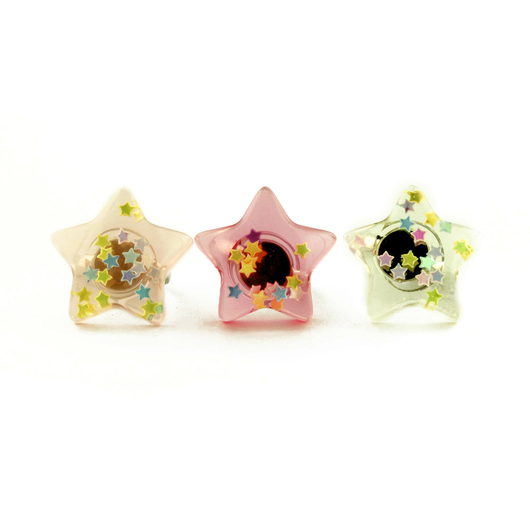 Pop Cutie Confetti Star Ring - Wholesale 12 pcs