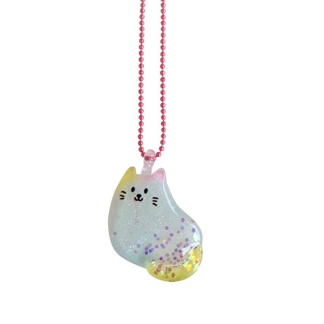 Ltd. Pop Cutie Glitter Cat Necklaces - 6 pcs. Wholesale