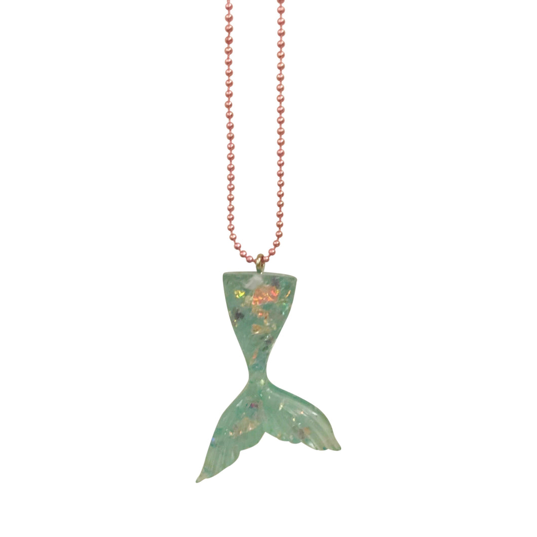 Pop Cutie Pastel Mermaid Tail Necklaces -6 pcs. Wholesale