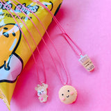 Ltd. Pop Cutie Smiley Macaroon Necklaces - 6 pcs. Wholesale