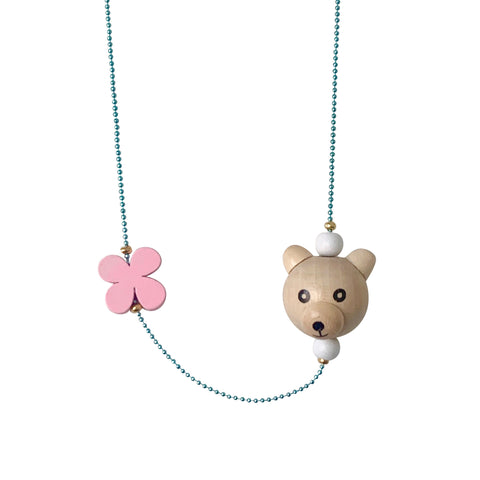 Pop Cutie ECO Bear Flower Necklaces - 6 pcs. Wholesale