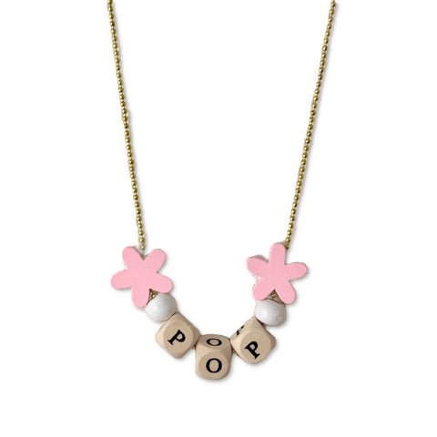 Pop Cutie ECO Text Necklaces - 6 pcs. Wholesale