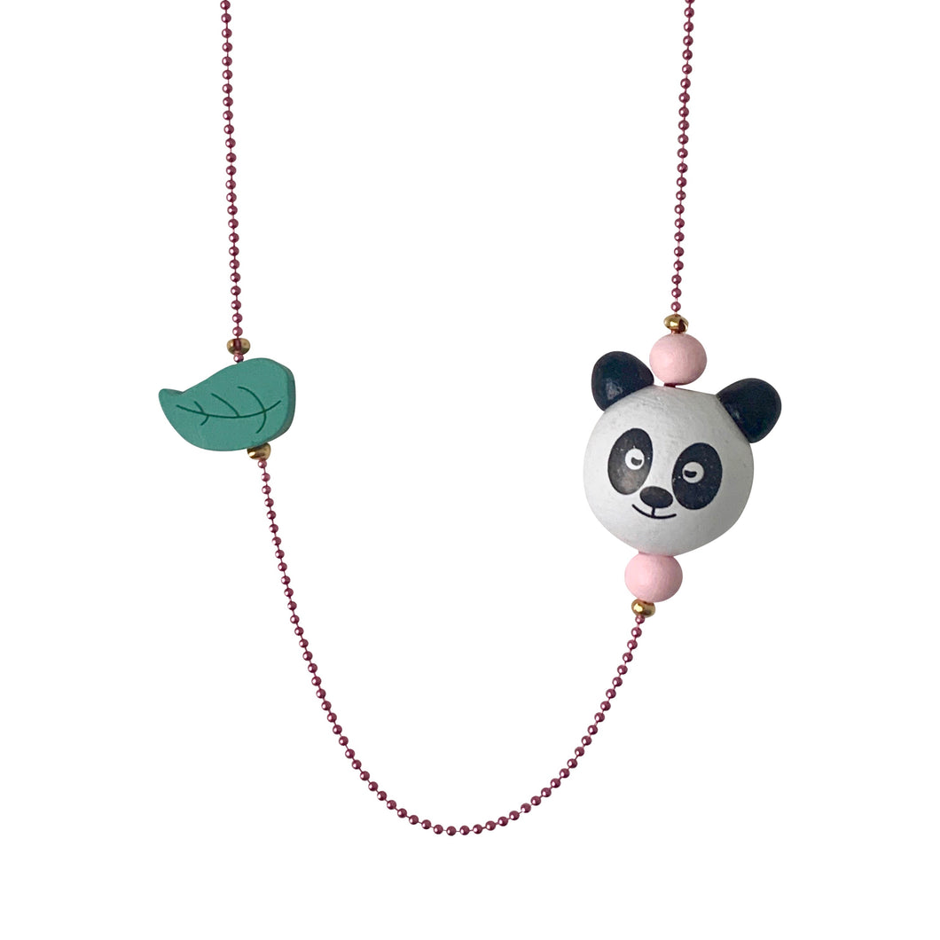 Pop Cutie ECO Panda Leaf Necklaces - 6 pcs. Wholesale