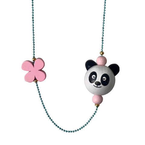 Pop Cutie ECO Panda Flower Necklaces - 6 pcs. Wholesale