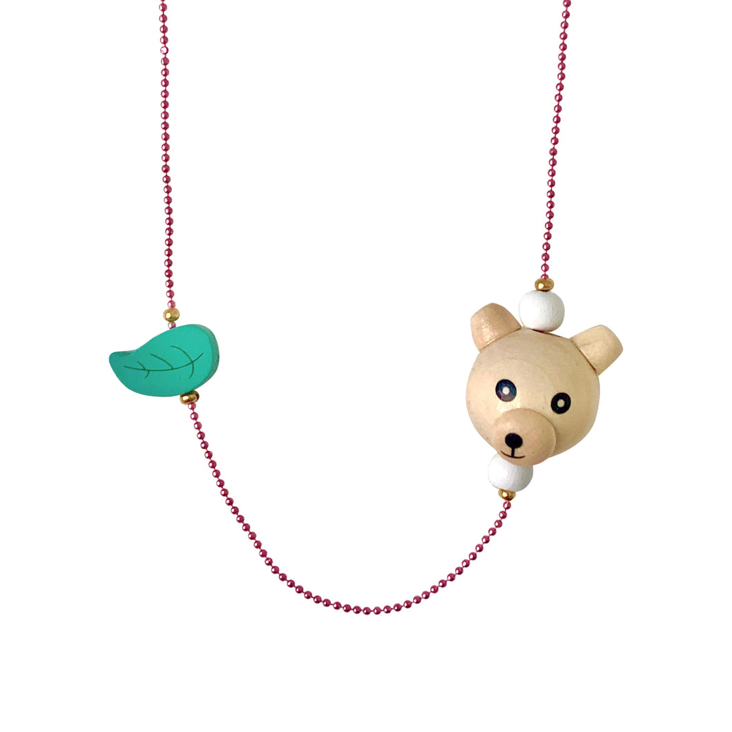 Pop Cutie ECO Bear Leaf Necklaces - 6 pcs. Wholesale
