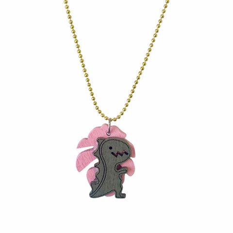 Pop Cutie ECO Palm Dino Necklace - 6 pcs. Wholesale