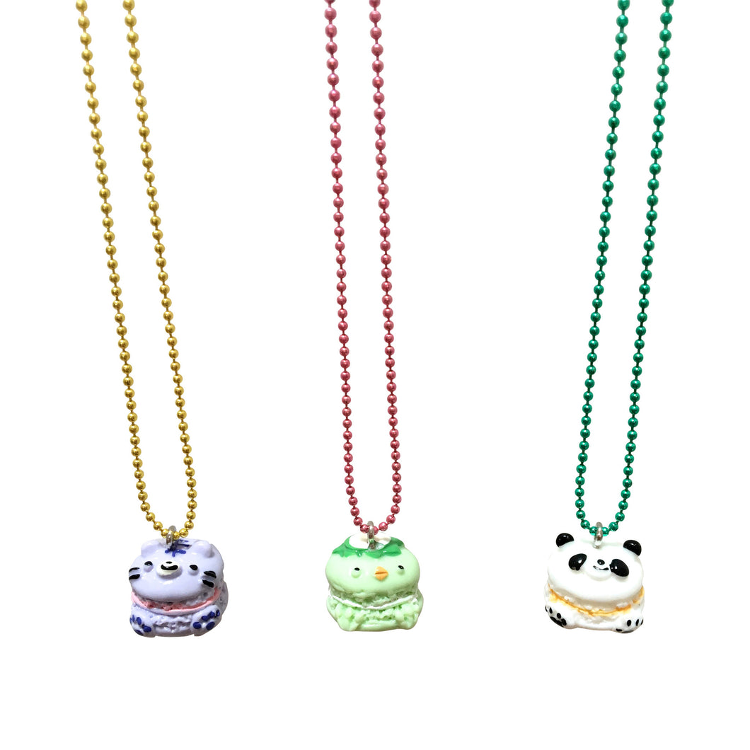 Pop Cutie Gacha Macaroon Animal Necklaces - 6 pcs. Wholesale
