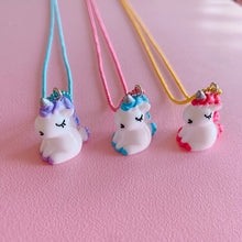 Load image into Gallery viewer, Pop Cutie Gacha Sitting Unicorn Necklaces