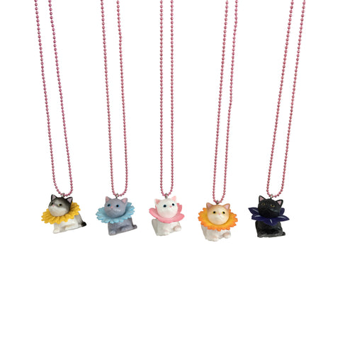 Ltd. Pop Cutie Flower Cat Necklaces - 6 pcs. Wholesale