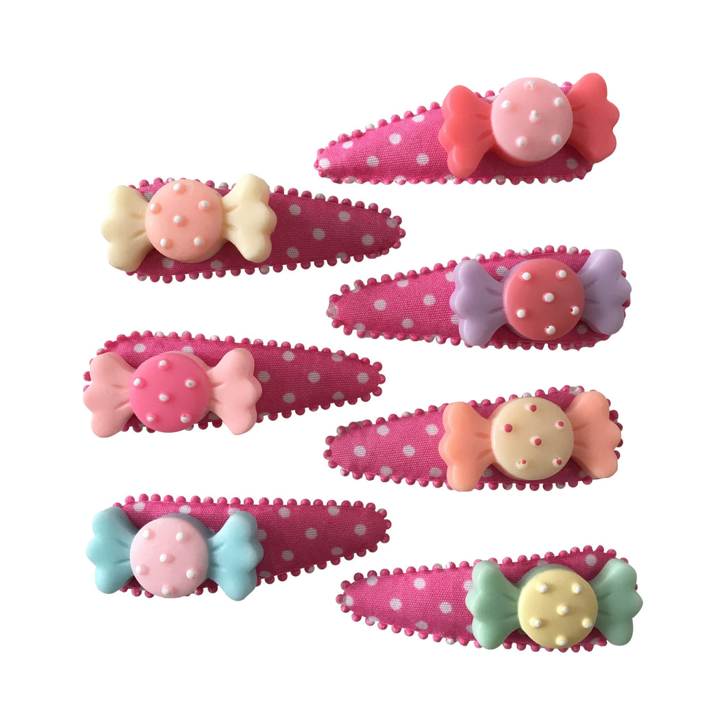 Pop Cutie Candy Hair Clips X 12 Pairs Wholesale