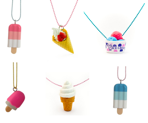 Pop Cutie X Iwako Ice Cream Necklaces 6 pcs  Wholesale