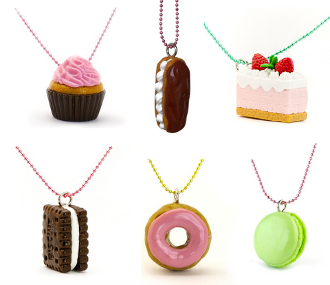 Pop Cutie X Iwako Cake Necklaces Wholesale 6 Pcs
