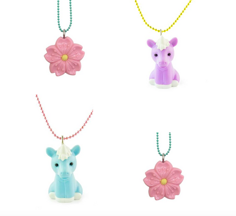 6 pcs Pop Cutie X Iwako Sakura Unicorn Necklaces Wholesale