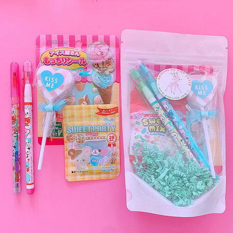 Pop Cutie Kawaii Japanese Stationery Set X 6 pcs- Wholesale