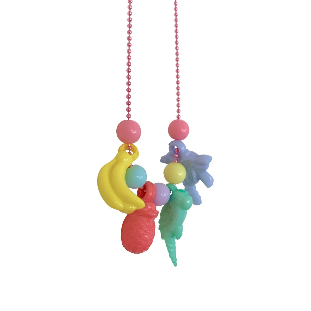 Pop Cutie Charm Necklaces -6 pcs. Wholesale