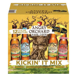 Angry Orchard Kickin It Variety Cider 12 Pack Can