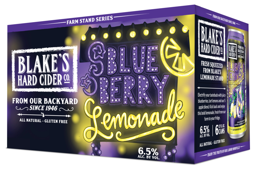 Blake's Hard Cider Blueberry Lemonade 6 Pack Can